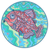 Ornamental fish in a circle Stock Images
