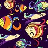 Ornamental fish,  marine print Stock Image