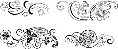 Ornamental floral Imagens de Stock Royalty Free