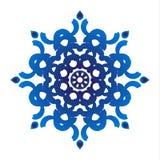 Ornamental floral azul stock de ilustración