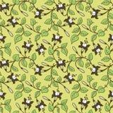 Ornamental floral background stock illustration
