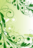 Ornamental floral background. In green palette Stock Image