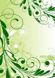 Ornamental floral background. In green palette vector illustration