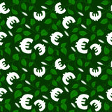 Ornamental floral background with euro symbol Royalty Free Stock Photography