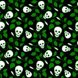 Ornamental floral background with skulls Royalty Free Stock Image