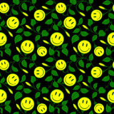 Ornamental floral background with smiley Stock Photography