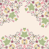 Ornamental floral card Royalty Free Stock Image