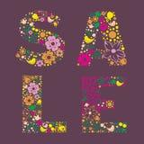 Ornamental floral color SALE banner. Floral color SALE banner vector illustration Royalty Free Stock Photography