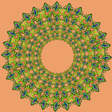 Ornamental floral composition. Stylized composition of floral motifs Royalty Free Stock Images
