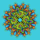 Ornamental floral composition 2. Stylized composition of floral motifs Stock Photo