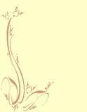 Ornamental floral da folha da folha Foto de Stock