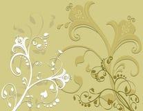 Ornamental floral da folha da folha Imagem de Stock Royalty Free