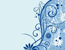 Ornamental floral design Royalty Free Stock Image