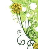 Ornamental floral design royalty free illustration
