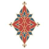 Ornamental floral element for design Royalty Free Stock Images