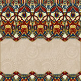 Ornamental floral folkloric background for Royalty Free Stock Images