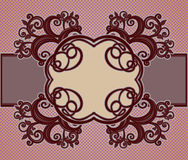 Ornamental floral frame Royalty Free Stock Photos