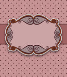 Ornamental floral frame Royalty Free Stock Image