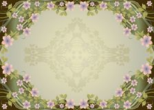 Ornamental Floral Frame Royalty Free Stock Photo