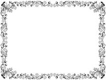 Floral frame with leaves and flowers. Ornamental floral frame with leaves and flowers, vector illustration Royalty Free Stock Photos