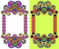 Ornamental floral frame Royalty Free Stock Photos