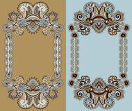 Ornamental floral frame Royalty Free Stock Photography