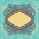 Ornamental floral frame Stock Image