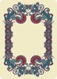Ornamental floral frame Stock Photos