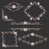 Ornamental floral frames set vector illustration