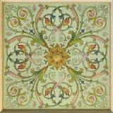 Plant fresco. Ornamental-floral fresco of the Renaissance, St. Petersburg stock photos
