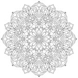 Ornamental floral mandala. Stock Photo