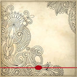 Ornamental floral pattern in grunge background Royalty Free Stock Photo