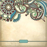 Ornamental floral pattern in grunge background Royalty Free Stock Image