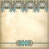 Ornamental floral pattern in grunge background Royalty Free Stock Photography