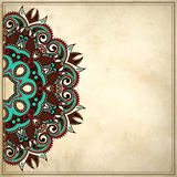 Ornamental floral pattern in grunge background Stock Photos