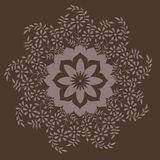 Ornamental floral pattern with many details. Royalty Free Stock Images