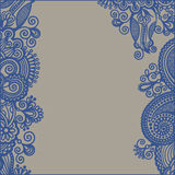 Ornamental floral pattern with place for your Royalty Free Stock Photography