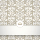 Ornamental floral pattern with place for your text Royalty Free Stock Photo