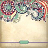 Ornamental floral pattern with place for your text Stock Photo
