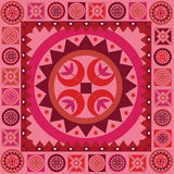 Ornamental floral pink  print Stock Image