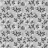 Ornamental floral seamless pattern. Abctract leaves and berries. Decorative background Royalty Free Stock Images