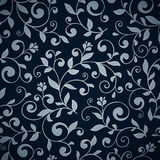 Ornamental floral seamless pattern. Abctract leaves and flowers. Decorative background Royalty Free Stock Photography