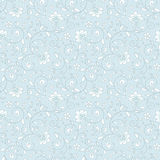 Ornamental floral seamless pattern. Delicate light blue and grey background. Wedding pattern Stock Image