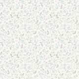 Ornamental floral seamless pattern. Delicate light blue and grey background. Wedding pattern Royalty Free Stock Photos