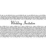 Ornamental floral seamless pattern for wedding invitations and g Royalty Free Stock Images