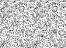 Ornamental floral seamless pattern for your design Stock Photography