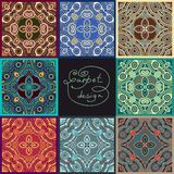 Ornamental floral seamless texture collection, Royalty Free Stock Images