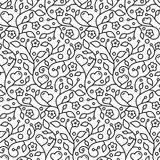 Ornamental floral seamless wallpaper pattern Royalty Free Stock Photo