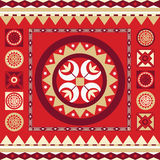 Ornamental floral spring red  print Stock Images