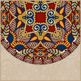 Ornamental floral template with circle ethnic dish Royalty Free Stock Images